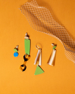 Colour Link Earrings (Tan)