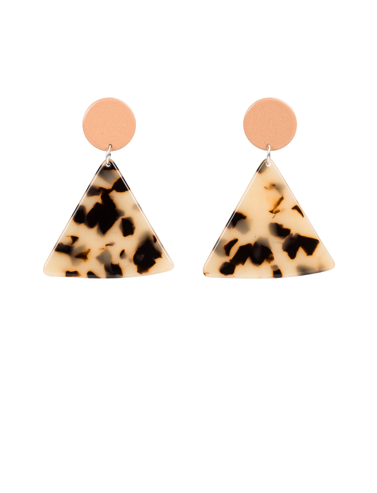 Chip Earrings (Peach)