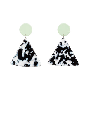 Chip Earrings (Mint)