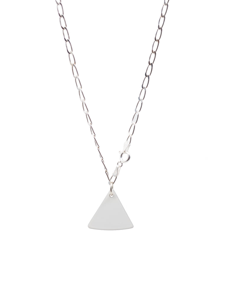 Mini Chip Blank Chain Necklace (White)