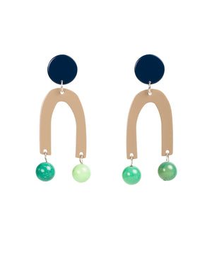 Pendulum Earrings (Navy)