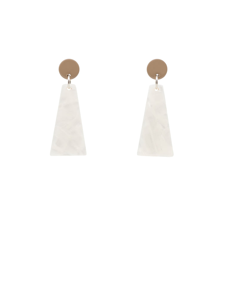 Rise Mini Earrings (Tan)