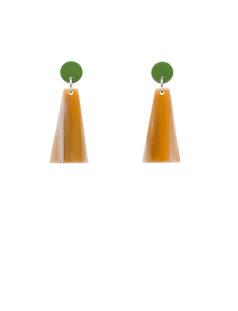 Rise Mini Earrings (Kiwi)