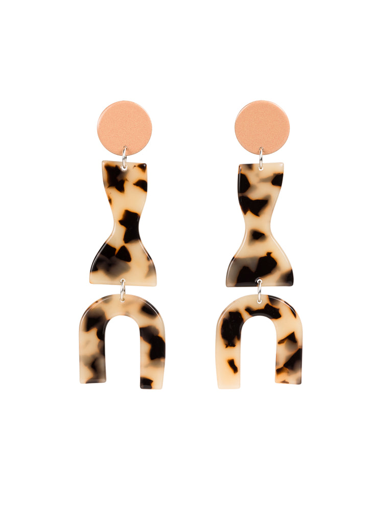 Roy Earrings (Peach)