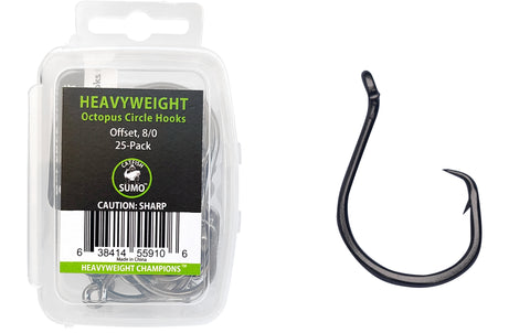 Heavyweight Circle Hooks, Octopus, Offset, Sharp for Trophy Catfish