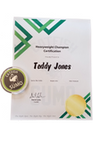 Heavyweight Champions Certificate + Coin