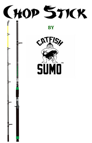 "Original Chop Stick Catfishing Rod: Medium Heavy, 7' 6"", 2-Piece, Sensitive Tip, Catfish Pole"