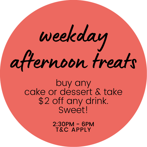 weekday afternoon treats promotion