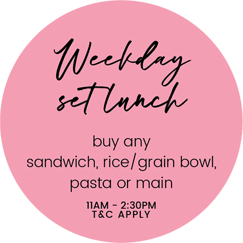 weekday set lunch