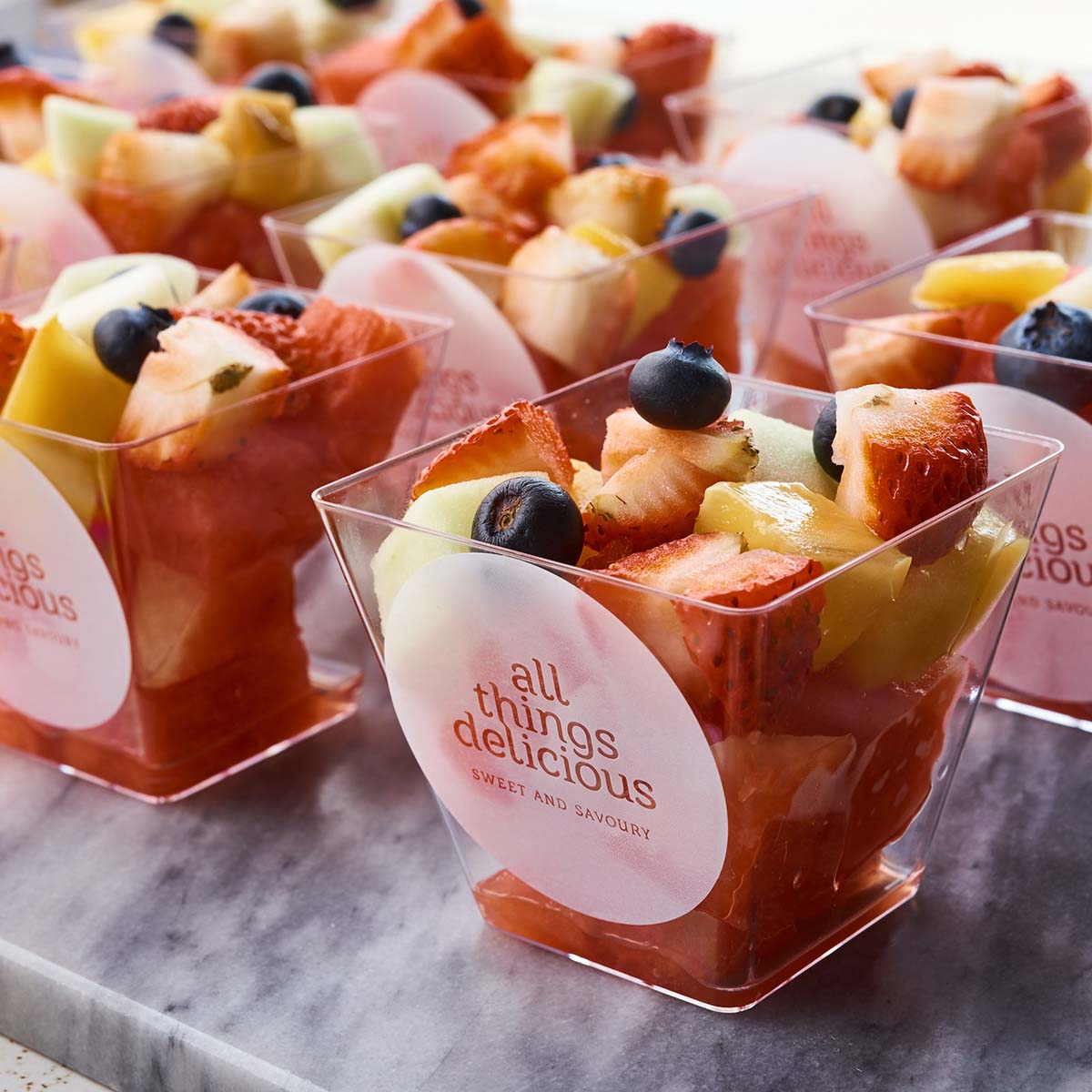 Box of 12 Fresh Fruit Cups