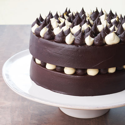 Black, White & Gold Chocolate Cake