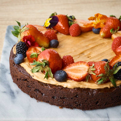 Flourless Chocolate Hazelnut Crème Cake (GF)