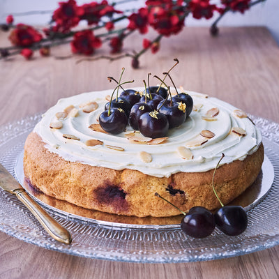 Flourless Cherry Almond Gateau