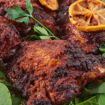 Harissa-Roasted Chicken with Lemons