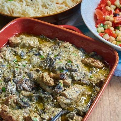 Dijon Chicken with Mushrooms
