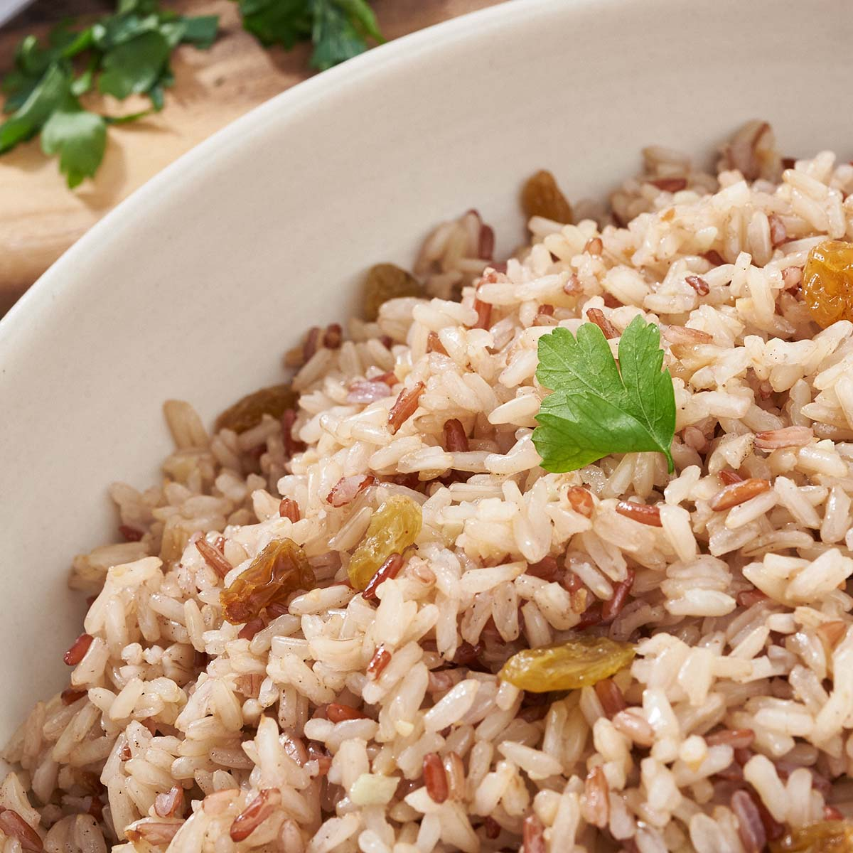 Brown Rice Pilaf (NEW) (GF) (V)
