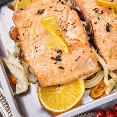 Slow-cooked Salmon with Fennel & Orange