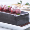 Raspberry Chocolate Log Cake Pavé