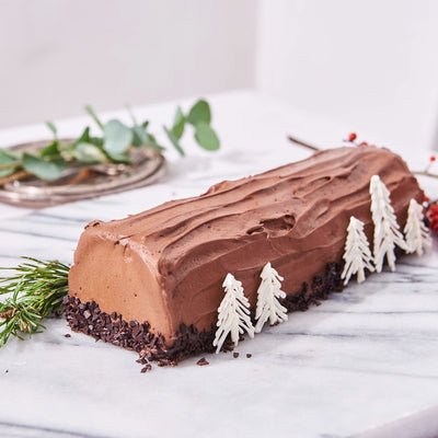 Classic Log Cake (Dark Chocolate)