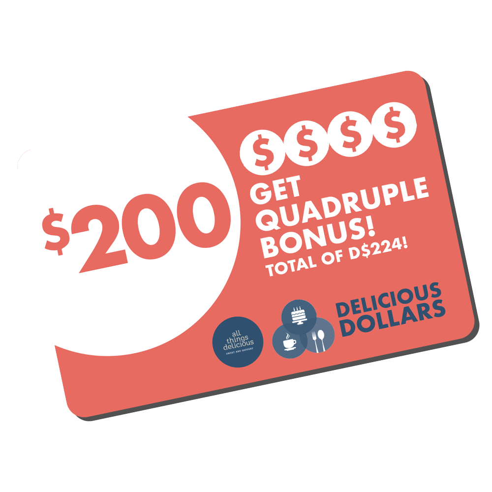 Delicious Dollars - $200 Top Up