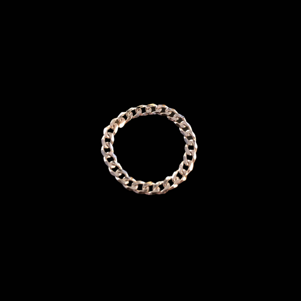 Curb Chain Ring Rhodium
