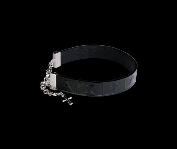 Leather Bracelet Infinity Black