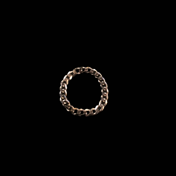 Curb Chain Ring Black