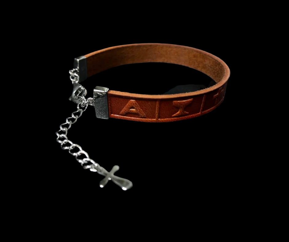 Leather Bracelet Infinity Brown
