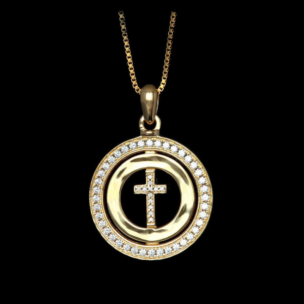 Circle Of Faith Gold-Plated / Swarovski