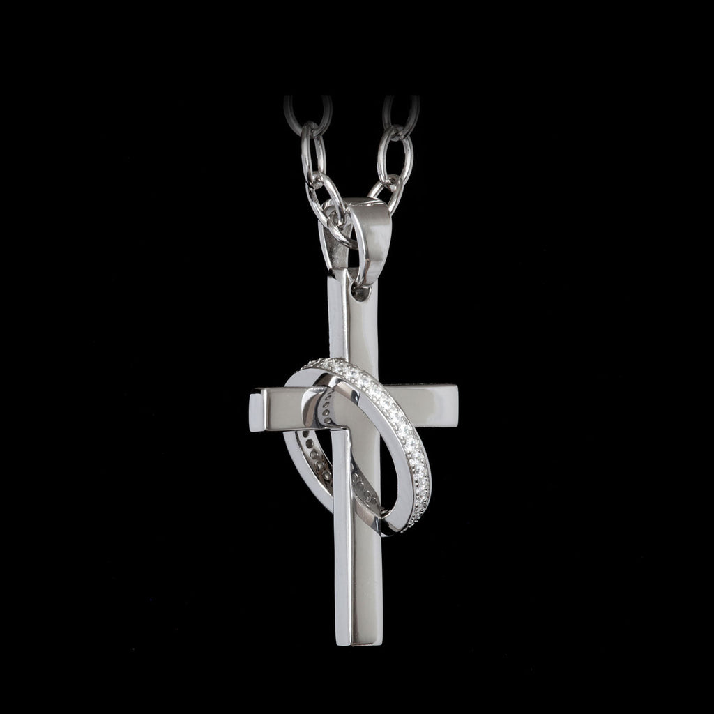 Cross Eternity Rhodium-Plated / Swarovski