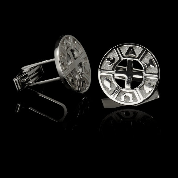 Cufflinks Rhodium-Plated Silver