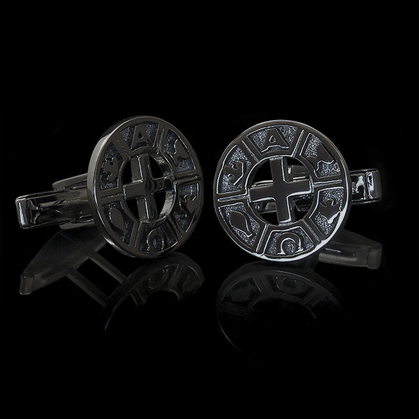 Cufflinks Black Rhodium-Plated Silver