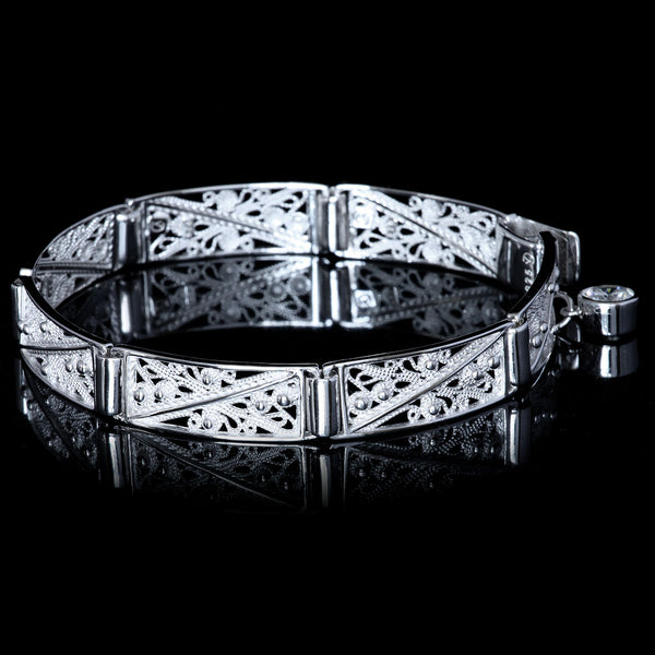 Filigree tradition was preserved through medieval times here as an elegant bracelet with a history, Veradesignjewelry.com