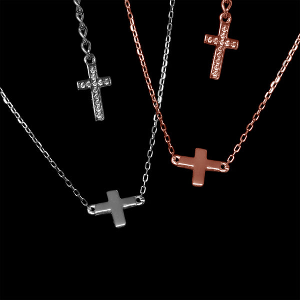 The Death Of Christ Necklace: Rhodium & Rose Gold