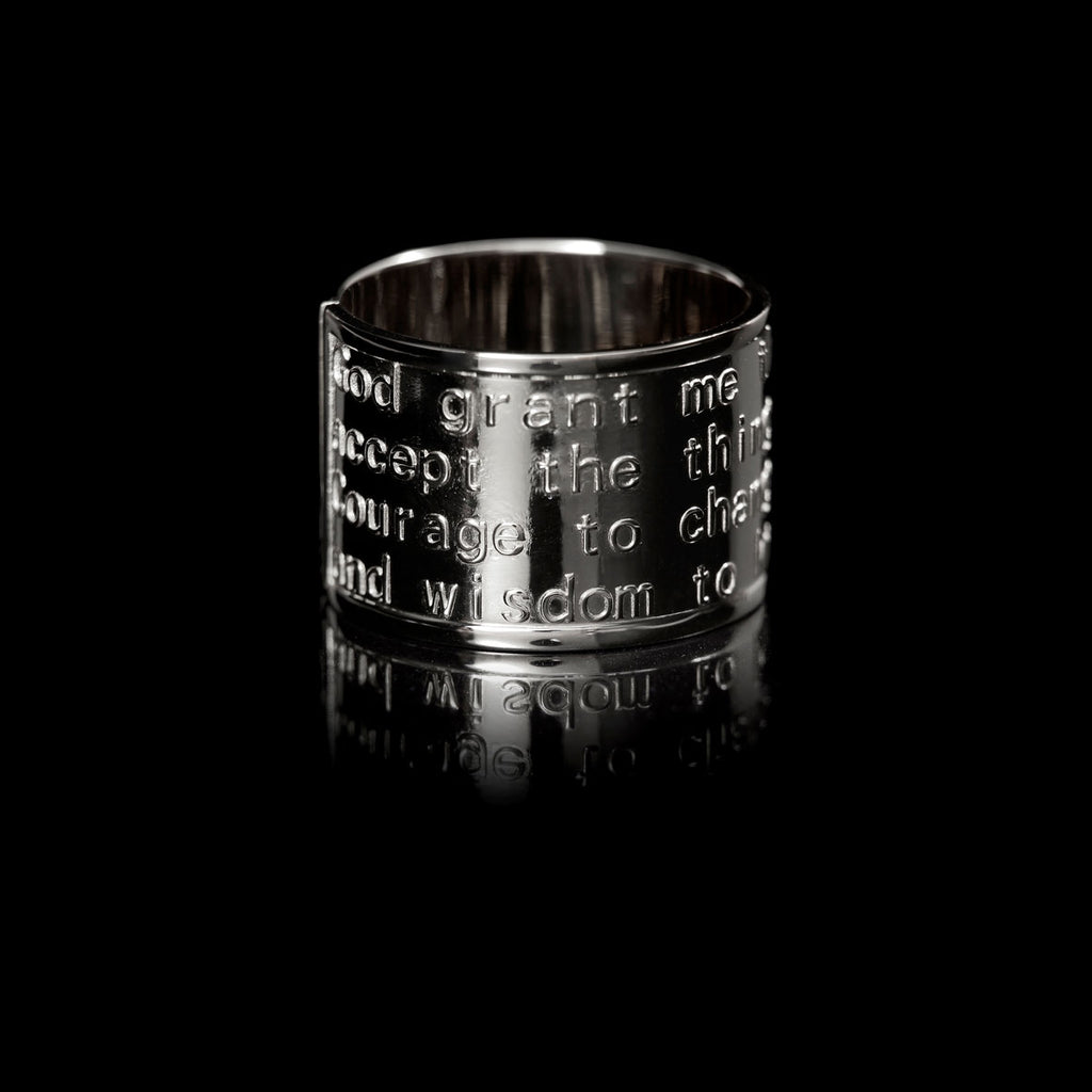 Serenity Ring Rhodium-Plated Silver