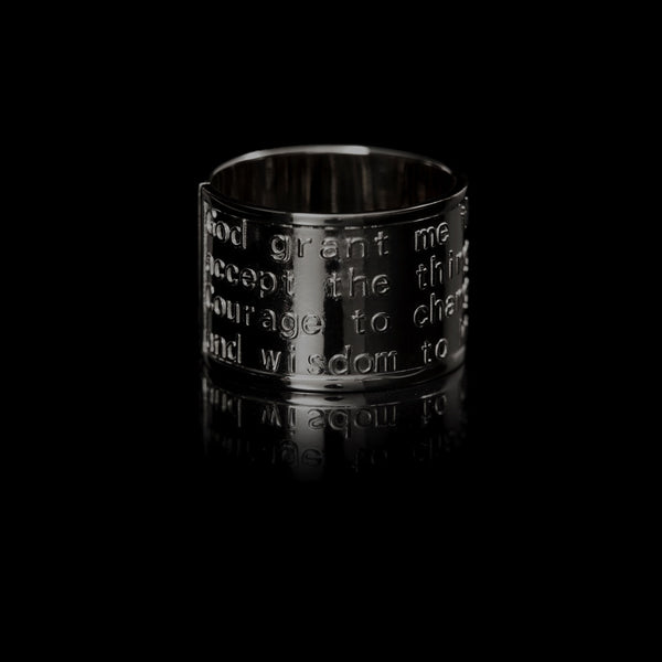 Serenity Ring Black Rhodium-Plated Silver