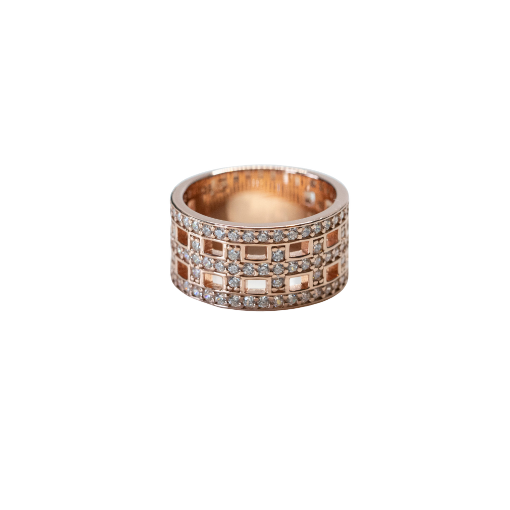 Cross Ring Rose Gold /Swarovski