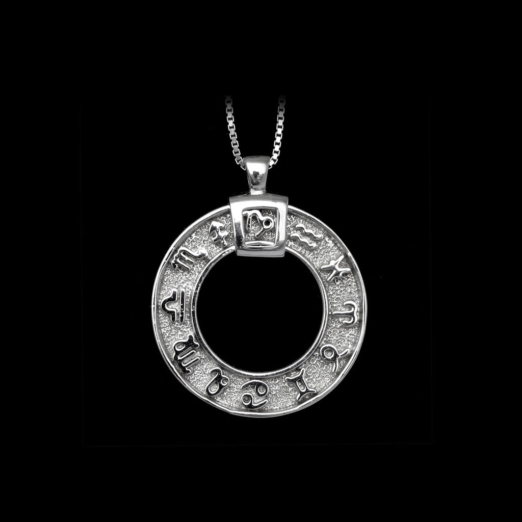 Zodiac Necklace Rhodium men