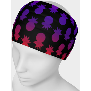 Colorful pineapples black headband - summerinstates