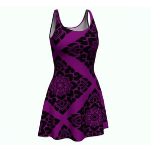 Black n' violet Halloween flare dress - summerinstates
