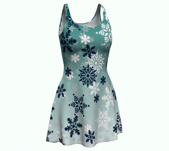 It's snowing snowflakes winter snow ladies dress