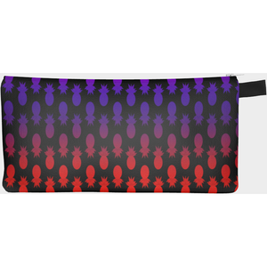Colorful pineapples black pencil case - summerinstates