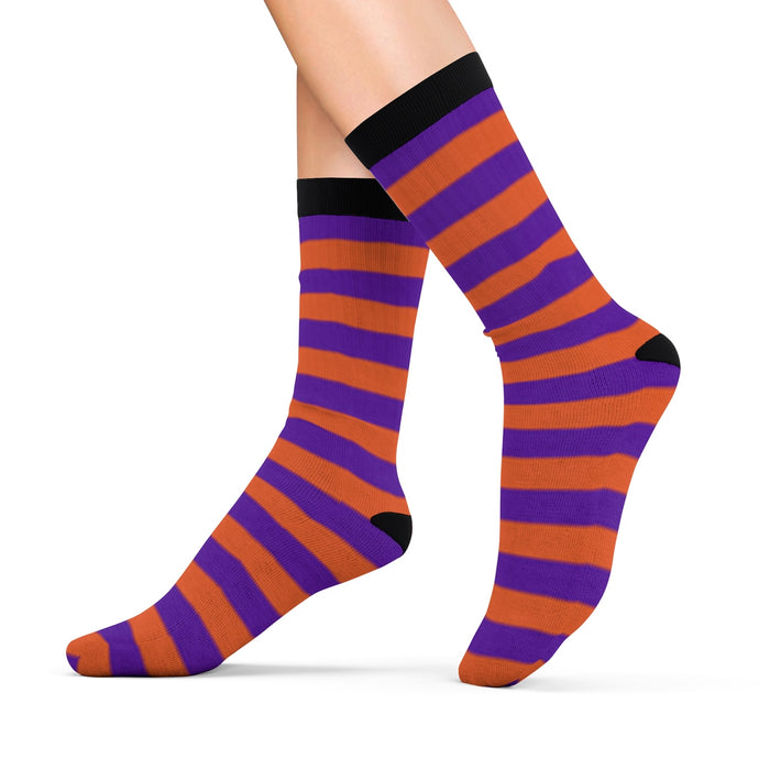 Socks with violet n' orange stripes - summerinstates