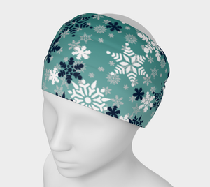 It's snowing snowflakes winter snow headband scarf multiple use