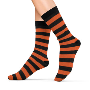 Socks with orange n' black stripes - summerinstates