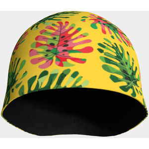 Tropical summer leaves beanie - summerinstates