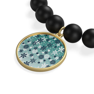 It's snowing winter Matte Onyx Bracelet