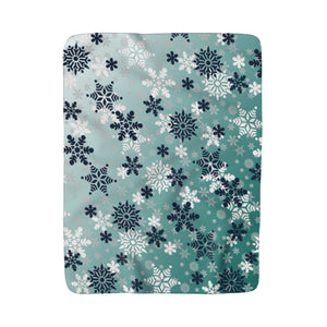 It's snowing snowflakes winter Sherpa Fleece Blanket