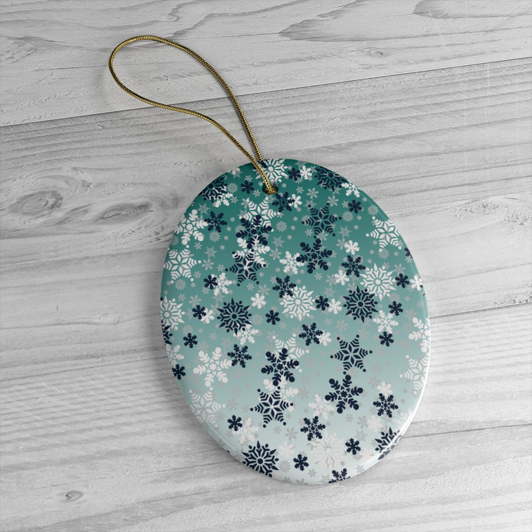 It's snowing Ceramic Ornaments