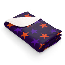 Sherpa Fleece Blanket with stars